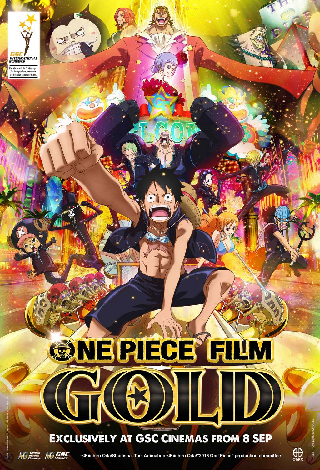 One Piece Film: Gold | Japanese Anime Movies | GSC Movies