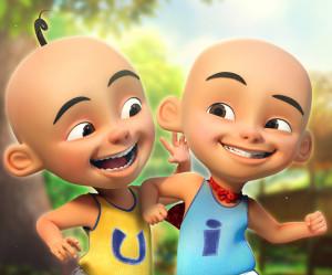 upin &ipin malay folklore characters