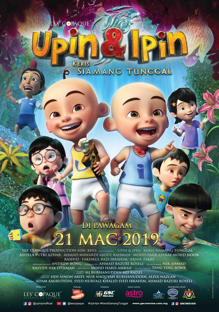 upin & ipin malay folk adventure animation movie poster